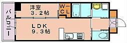 ネストピア博多シティ[2階]の間取り