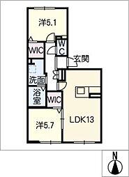 MastTownLuciaB棟[1階]の間取り