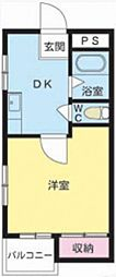 藤コーポ[1階]の間取り