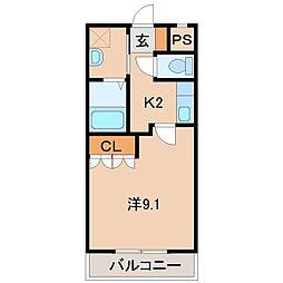 シャングリラI[2階]の間取り