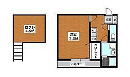 エル・ソル城南[2階]の間取り