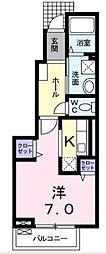 東京都昭島市朝日町1丁目の賃貸アパートの間取り