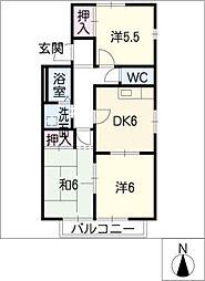サニーコートK[2階]の間取り