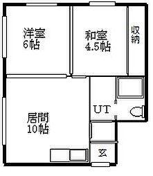 札幌市営東西線 菊水駅 バス10分 菊水元町5条下車 徒歩25分の賃貸アパート 2階2LDKの間取り