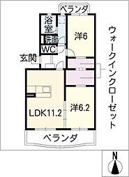 WOODYBELL Dual[2階]の間取り