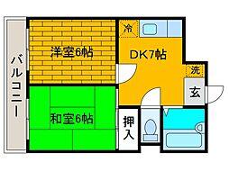 田中マンション[4階]の間取り