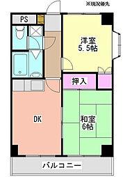エステハイム大倉山[5階]の間取り