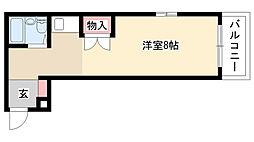 愛知県名古屋市瑞穂区神前町1丁目の賃貸マンションの間取り