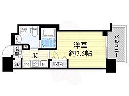 セレニテ谷九プリエ 8階1Kの間取り