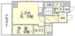 パークサイド博多駅東[5階]の間取り