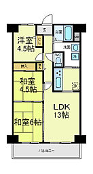 ホワイトマンション[7階]の間取り