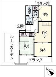グレースコートII[4階]の間取り