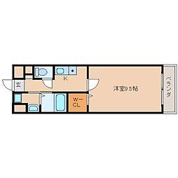 奈良県奈良市西大寺宝ケ丘の賃貸マンションの間取り