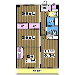 第2藤マンション[3階]の間取り