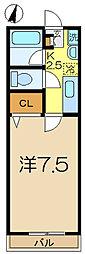 グレイス港南中央[2階]の間取り