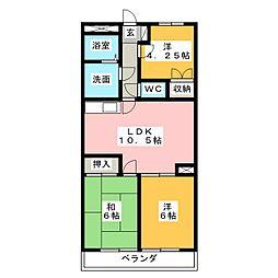 プランドール大塚[4階]の間取り