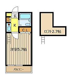 レジデンスD[2階]の間取り