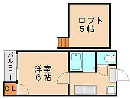 プチメゾン幸[2階]の間取り
