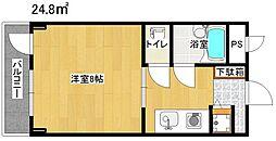 第24長栄アビタシオン[403号室]の間取り