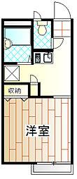 コンフォール淵野辺[1階]の間取り