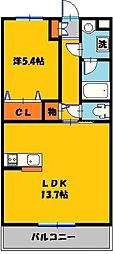 Y&M Lpur(ルピア)[2階]の間取り
