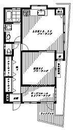 マリーノ野方[1階]の間取り