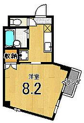 メゾン徳大寺[302号室]の間取り