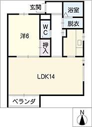 R−WINGII[4階]の間取り