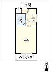 西富マンション[3階]の間取り