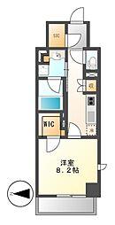 愛知県名古屋市中村区名駅南4丁目の賃貸マンションの間取り