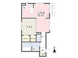JR南武線 宿河原駅 徒歩11分の賃貸マンション 1階1LDKの間取り