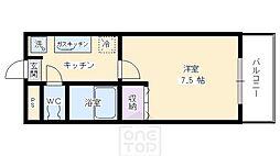 フェイム西ノ京[4階]の間取り