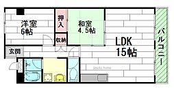 日商岩井第3緑地公園マンション[9階]の間取り