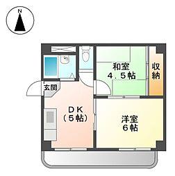 エスポワ−ル上飯田[2階]の間取り