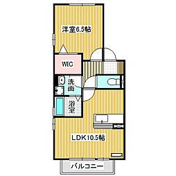 愛知県名古屋市中川区荒子5丁目の賃貸アパートの間取り
