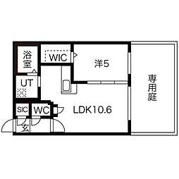 コローレN32イースト[1階]の間取り