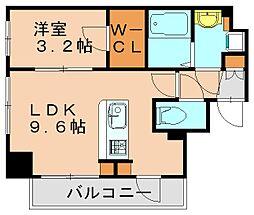ビエネスタ千代県庁口 10階1LDKの間取り