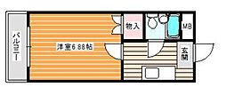 コーポリーブルII[2階]の間取り