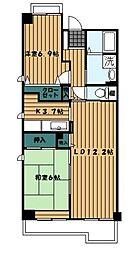 ジーニアスK[5階]の間取り