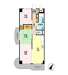 エクセルハイム海宝[2階]の間取り