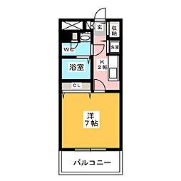 スカイコート福岡県庁前[10階]の間取り