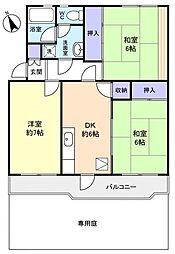 ライオンズマンション習志野2号棟[1階]の間取り