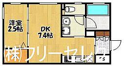 フェリオ高宮[1階]の間取り