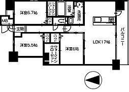 田所ヒルズ[301号室]の間取り