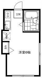 ペンシルハウス[1A号室号室]の間取り