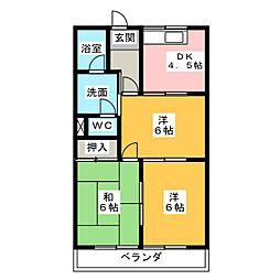 エクセル宮代[2階]の間取り