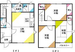 [タウンハウス] 埼玉県さいたま市見沼区大字南中丸 の賃貸【/】の間取り