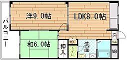 KRマンション[A-1号室]の間取り