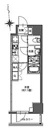 JR総武本線 馬喰町駅 徒歩4分の賃貸マンション 2階1Kの間取り