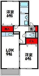 プチファミーユ(リノベ)[2階]の間取り